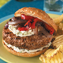 Garlic-Herb Cheeseburgers
